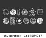 set of different tasty cookies...   Shutterstock . vector #1664654767