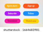 set of modern ui buttons. user... | Shutterstock .eps vector #1664683981