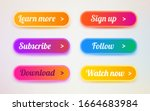 set of modern ui buttons. user...