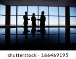 outlines of three office... | Shutterstock . vector #166469195