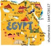 Egypt Map Flat Hand Drawn...