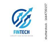 fintech logo template design.... | Shutterstock .eps vector #1664730157