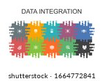 data integration cartoon... | Shutterstock . vector #1664772841