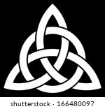 beautiful celtic trinity knot ... | Shutterstock . vector #166480097