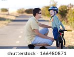 happy smiling father and his... | Shutterstock . vector #166480871