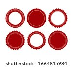 vector stamp without text. set... | Shutterstock .eps vector #1664815984