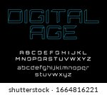 alphabet with robotic style as...   Shutterstock .eps vector #1664816221