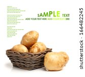 potatoes on white background  | Shutterstock . vector #166482245