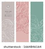 set of vertical minimalist... | Shutterstock .eps vector #1664846164