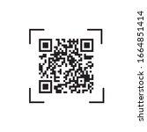 qr code for scanning...   Shutterstock .eps vector #1664851414