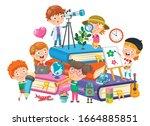 concept design for children...   Shutterstock .eps vector #1664885851