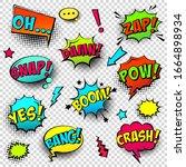 comic colored speech bubbles...   Shutterstock .eps vector #1664898934