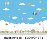 city skyline. buildings...   Shutterstock .eps vector #1664904841