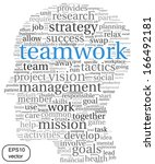 teamwork and strategy vector... | Shutterstock .eps vector #166492181