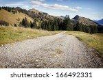Dirt Road At The European Alps