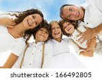 big family is holding together... | Shutterstock . vector #166492805
