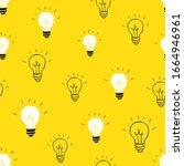 light bulb seamless pattern... | Shutterstock .eps vector #1664946961