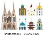 cathedrals and churches... | Shutterstock .eps vector #166497521