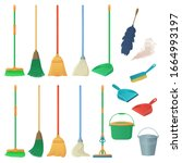 cartoon household equipment set.... | Shutterstock .eps vector #1664993197