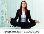 young beautiful businesswoman... | Shutterstock . vector #166499699