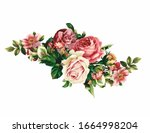 a bouquet of realistic flowers  ...   Shutterstock .eps vector #1664998204