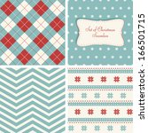 set of retro seamless for... | Shutterstock .eps vector #166501715