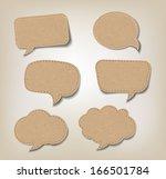 Six Cardboard Speech Bubbles for Web or Print.