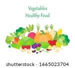 vegetables flat icon  eggplant  ... | Shutterstock .eps vector #1665023704
