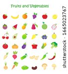 fruit and vegetable icon... | Shutterstock .eps vector #1665023767