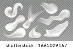 cosmetic cream smear drop... | Shutterstock .eps vector #1665029167