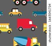 cartoon transportation... | Shutterstock .eps vector #1665041734