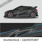 car wrap decal design vector ... | Shutterstock .eps vector #1665055387