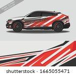car wrap decal design vector ... | Shutterstock .eps vector #1665055471