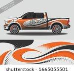 car wrap decal design vector ... | Shutterstock .eps vector #1665055501