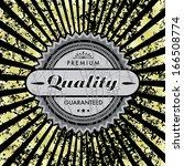 vector grungy label background. | Shutterstock .eps vector #166508774
