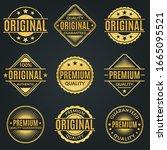 vintage badge and retro logo...   Shutterstock . vector #1665095521