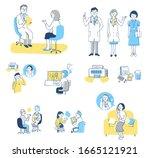 set of various scenes of... | Shutterstock . vector #1665121921