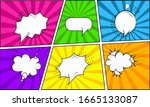 a set of bright backgrounds... | Shutterstock .eps vector #1665133087