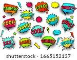 comic colored speech bubbles... | Shutterstock .eps vector #1665152137
