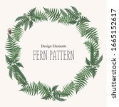 round frame  border or circular ... | Shutterstock .eps vector #1665152617