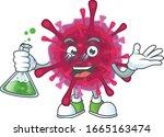 a genius professor amoeba... | Shutterstock .eps vector #1665163474
