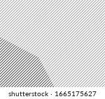 vector line pattern. geometric... | Shutterstock .eps vector #1665175627