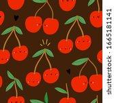 super cute seamless vector...   Shutterstock .eps vector #1665181141