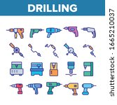 drilling equipment collection... | Shutterstock .eps vector #1665210037