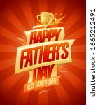 happy father's day card  best... | Shutterstock .eps vector #1665212491