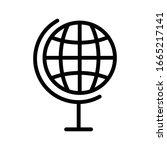 globe icon outline isolated...   Shutterstock .eps vector #1665217141