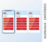user data. mobile screen... | Shutterstock .eps vector #1665256021