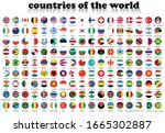 world flags in a circle. round... | Shutterstock .eps vector #1665302887