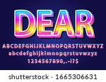 3d gradient pop style alphabet... | Shutterstock .eps vector #1665306631