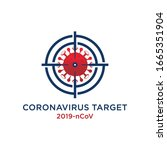 corona virus target  vector... | Shutterstock .eps vector #1665351904